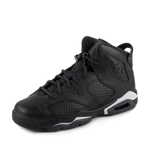 Jordan Big Kids Air Jordan 6 Retro (GS) Black Cat (Black / Black-White) by Jordan