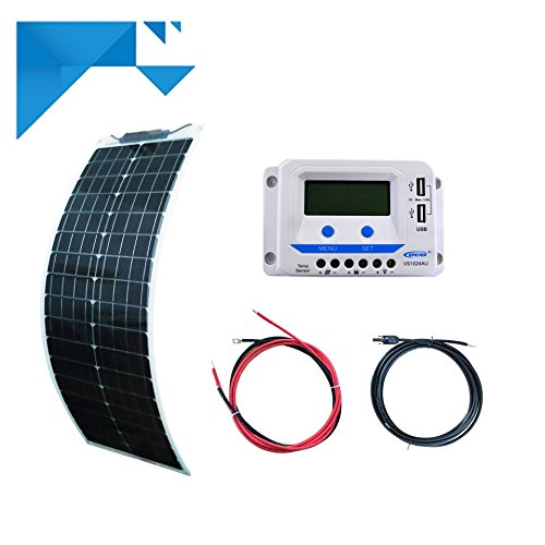 Kit solaire50W 12V souple long EPEVER-pour bateau - camping car NEWENERGYECO