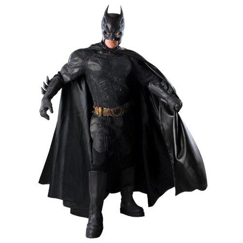 [Batman The Dark Knight Rises Grand Heritage Collector's Batman Costume, Black, Large] (Knight Family Costume)