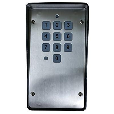 Heddolf M330-1KA Multi-Code Compatible Wireless Gate and Garage Door Opener Keypad 300 MHz keystone Hardwire by Heddolf