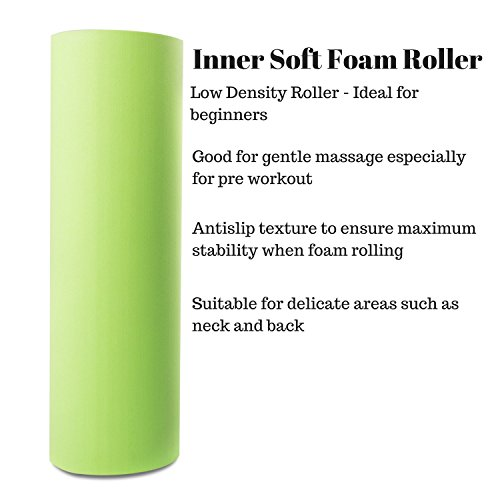 2 In 1 Foam Roller. Trigger Point Rollers Perfect for Deep Tissue Massage of Painful Tight Muscles and Myofascial Release. BONUS Carry Case Included