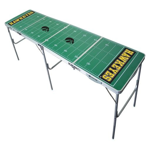 Iowa Hawkeyes Tailgate Table, NCAA Football Tailgating, 2x8, 8ft, Lightweight