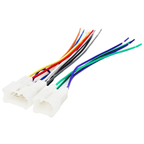 Replacement Radio Wiring Harness for 2002 Toyota Sequoia, 2010 Toyota Corolla, 2003 Toyota Camry, 2001 Toyota Camry, 1997 Toyota Camry, 2005 Toyota Corolla, 2002 Toyota Camry, 2001 Toyota Corolla