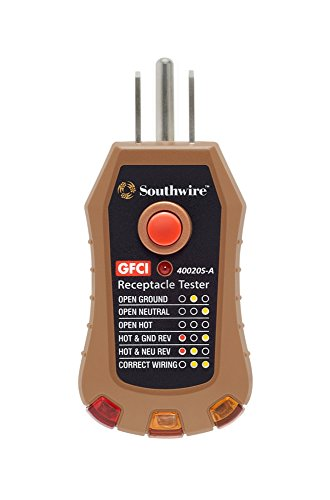 Southwire Tools & Equipment 40020S-A GFCI Receptacle Tester