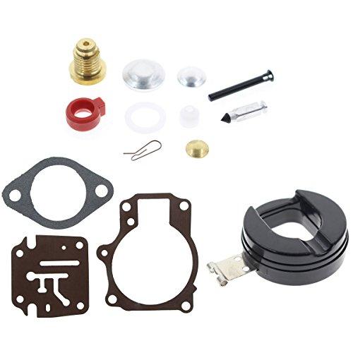 AUTOKAY Carburetor Carb Repair Rebuild Kit w/ Float for Johnson Evinrude 4-15 hp 398453