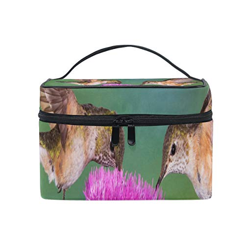 Travel Cosmetic Bag Hummingbirds Toiletry Makeup Bag Pouch Tote Case Organizer Storage For Women Girls