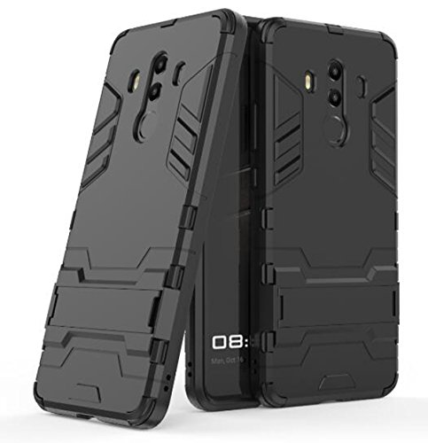 Price comparison product image Mate 10 Pro Case, DAMONDY Ultra War Armor Premium Built-in Kickstand Military Defender Full-body Rugged Dual Layer Case for Huawei Mate 10 Pro-black