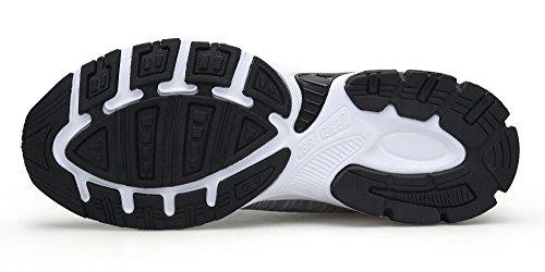 Grey Sneakers Mujer Deporte Running Zapatillas Aire Transpirable DENGBOSN Zapatillas Zapatillas y de Ligero de Deportivas Casual de Libre Deporte Mujer q8gxAH4