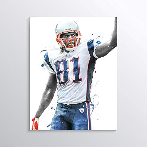 Randy Moss Poster Print Man Cave Football Wall Art New Patriots Poster American Football Print Randy Moss Artwork American Football Poster NFL Decor