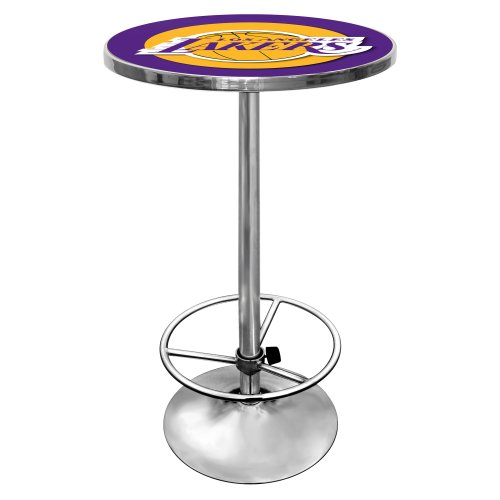 NBA Los Angeles Lakers Chrome Pub Table by Trademark Gameroom