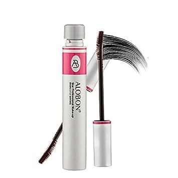 e616260ec58 Amazon.com: toeiwow shop Black Ink Alobon 3d Fiber Lashes Mascara  Individual Curl Eyelash Extension Colossal Mascara Volume Express Cosmetics  Makeup: ...