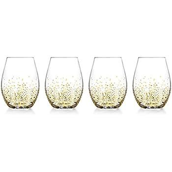 c31eba6276c Amazon.com | Pfaltzgraff Winterberry Stemless Wine Glasses (Set of 4 ...