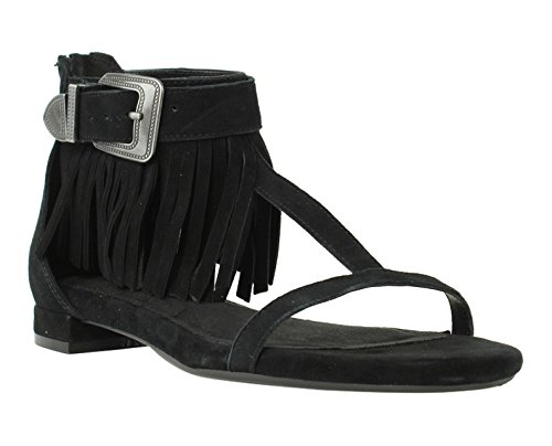 Aerosoles Suede Sandals (Aerosoles Women's Lowdown Heeled Sandal, Black Suede, 6.5 M US)
