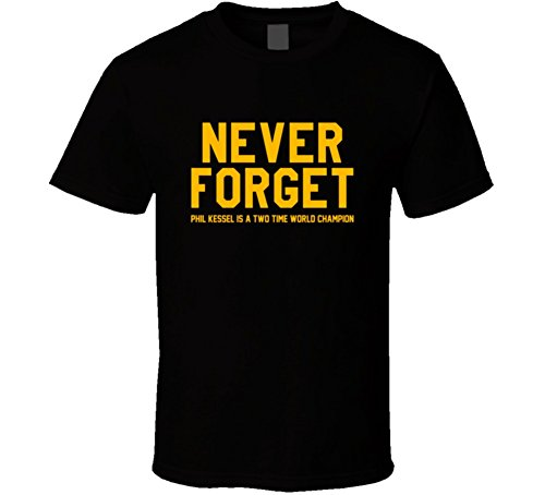 FanTstore Never Forget Phil Kessel Is A Two Time World Champion Cool Funny Fan T Shirt 2XL Black