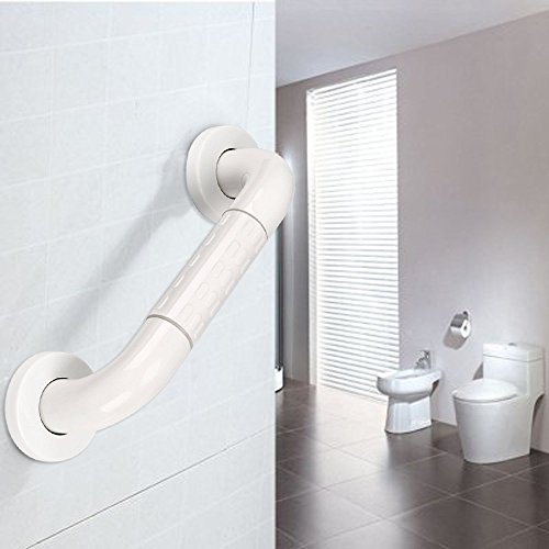 Sumnacon Bath Grab Bar with Anti-Slip Grip and Safety Luminous Circles, 12'' Heavy Duty Shower Handle for Bathtub,Toilet, Bathroom,Kitchen,Stairway Handrail,Come with Mounted Screws by Sumnacon (Image #8)