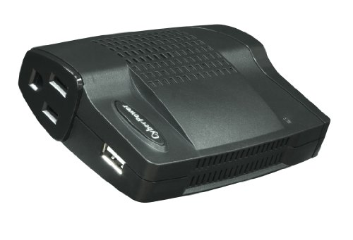 Cyberpower Ac Mobile - CyberPower CPS160SU-DC 160 Watt Slim-Line Mobile Power Inverter with USB Charging Port, AC Outlet and DC Out,Slim Line (Black)