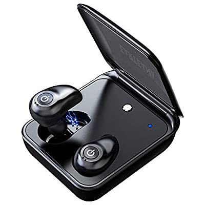 Wireless Earbuds,Earteana TWS in-Ear Earpiece with Dual MIC Mini Bluetooth Earphones with Charging Case Noise Canceling Headphones Sport Headset for iPhone X/8/7 Samsung Galaxy S9/S8 /S8Plus