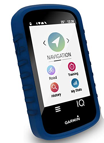 (Tuff-luv Silicone Gel Skin Case Cover for Garmin Edge Explore (with Screen Protection) - Blue)