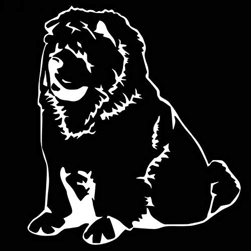 - 1pcs 15.213.5cm 3D Funny Car Styling Stickers Chow Chow Dog Car Stickers and Decals Car Body Window Stickers White