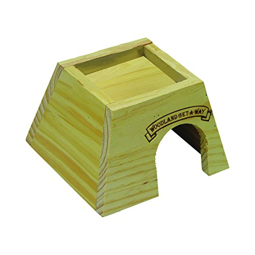 Kaytee Woodland Get-A-Way Small Mouse House (Hut Hamster Wood)