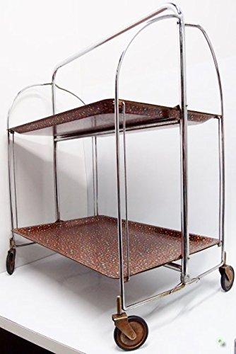 dinett 60er camarera Vintage Flores – Mesa auxiliar plegable carrito mesa