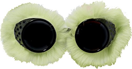 forum novelties women's club candy novelty faux fur goggles, green, one size ()
