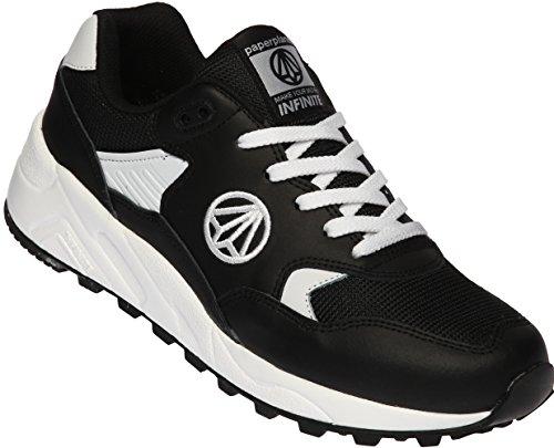 Paperplanes-1348 Unisex Oneindige Mesh Running Sneakers Schoenen Zwart Wit