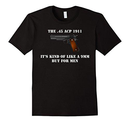 Mens .45 Caliber 1911 Pistol Like a 9mm But For Men Shirt 3XL Black