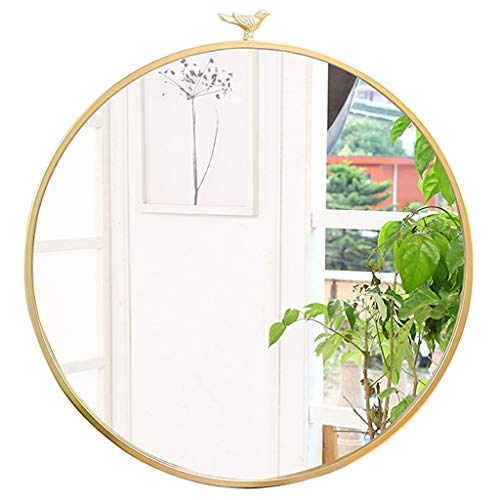 Wall Mirrors Wall Mirror Round Metal Bird Family Decoration Hanging Mirror Vintage -