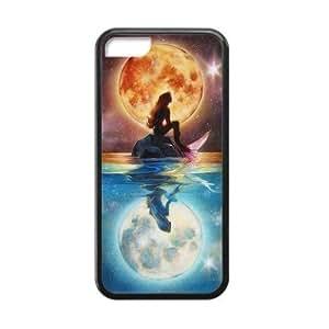LJF phone case LeonardCustom- The Little Mermaid Princess Ariel Protective Hard TPU Rubber Coated Phone Case Cover for ipod touch 4 -LCI5CU416