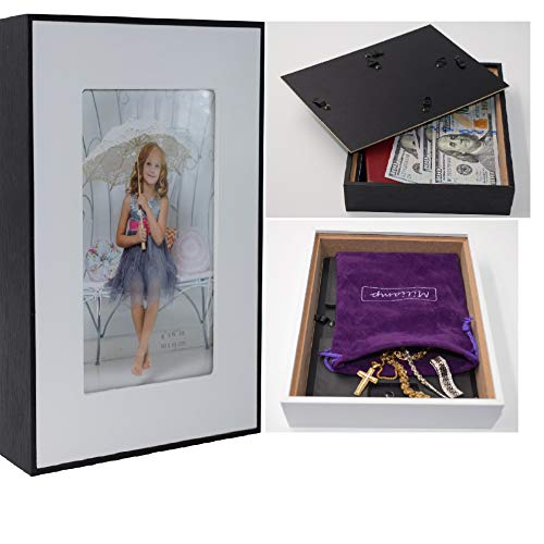 Diversion Safe - Stash Can – Picture Frame Can Safes, Storage for Money, Jewelry or Herbs, Money Safe - Secret Safe, Secret Container with Free Pouch