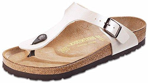 Birkenstock Toe Post Sandal - Birkenstock Women's GIzeh Thong Sandal,Graceful Pearl White 36/5-5.5 B(M) US