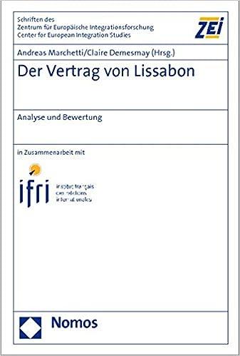 Der Vertrag Von Lissabon Analyse Und Bewertung Amazonde Andreas