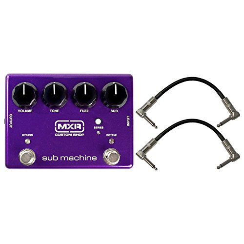 MXR M225 Sub Machine Octave Fuzz/Octave Guitar Effects Pedal with Independently Switchable Octave Up Effect and Parallel Serial Switch for Octave Down Fuzz Processing with 2 Path Cable