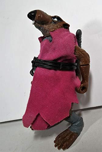 Vintage Splinter (1988) (With Belt, Robe, & Bow) - Action Figure - Playmates - TMNT - Teenage Mutant Ninja Turtles Collectible Figure - Loose Out of Package & Print (OOP) (Vintage Ninja Turtle Toys)