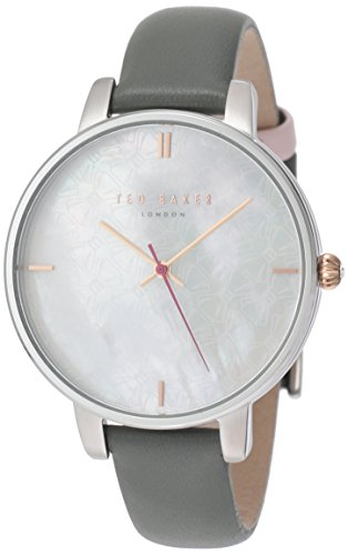 Ladies Ted Baker London Watch Leather Strap Mother of Pearl Dial TE15162002