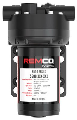 SMV INDUSTRIES 5537-1E1-82B-SB 5.3Gpm 12V Remco Pump
