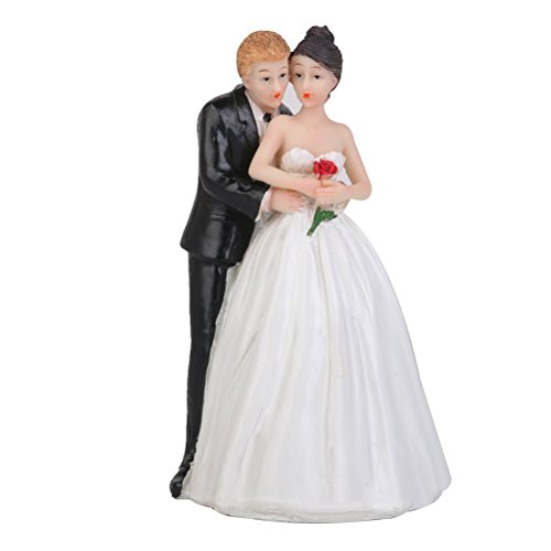 Cake Decorating Supplies - Romantic Figurine Bride Groom Hug Per Party Decoration Adorable Craft Gift - Esible Kit-baking Stand Case Professional Star Mold Carrier Holder Kits Rheme Buddy Prime ()