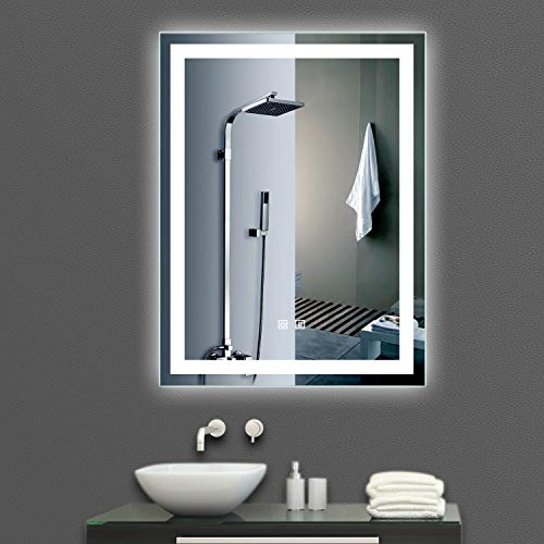 M LTMIRROR Smart LED Lighted Vanity Makeup Bathroom Wall Mounted Mirror,Vertical Anti-Fog -