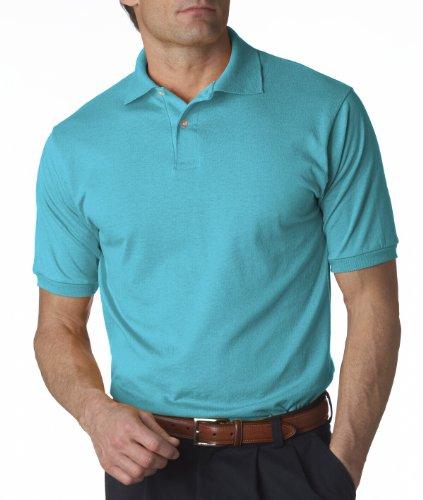 Jerzees 5,6oz. 50/50de la Hombres Jersey Polo con SpotShield California Blue