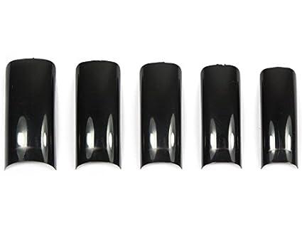 500 tips - uñas postizas French Diseño Negro: Amazon.es: Belleza