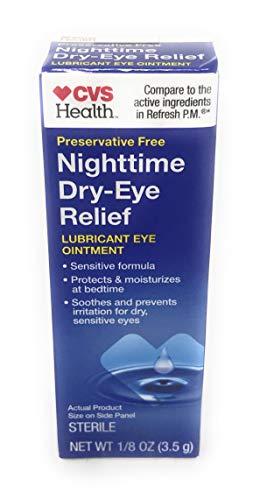 CVS Health Lubricant Eye Ointment Nighttime Relief, 0.12 OZ