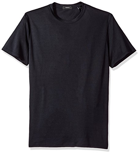 Theory Men's Claey Plaito Dressy Crew Neck T Shirt, Eclipse XS