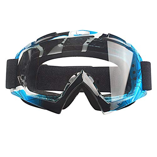 MOOREAXE Motorcycle Goggles,Motocross Motorbike Mountain Bike Windproof Dusty proof UV400 Off Road MX Goggles,Riding Gear Anti-fog Goggles Sunglasses Glasses For Women Men Adults ()