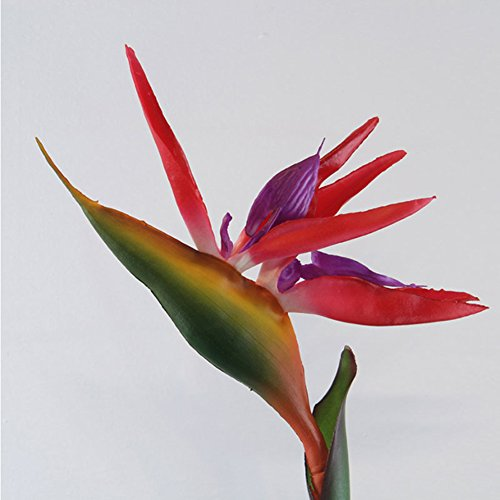 (Artificial Flower Bird of Paradise Fake Plant Faux Strelitzia Reginae Home)