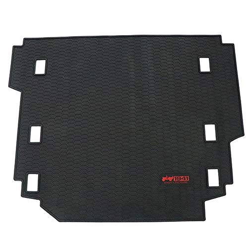 cartaoo Carpet Rubber Leather Rear Floor Cargo Trunk Liner Tray Mat Pad for 2018-2019 Jeep Wrangler JL Sahara Without Subwoofer (Black Side)
