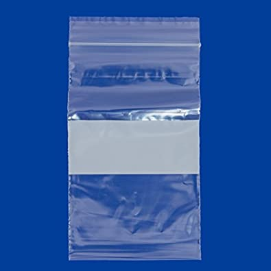 amazon com 4x6 plastic zip top poly bags white block package of