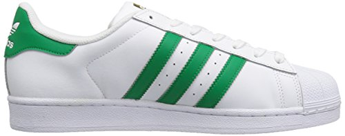 Adidas Originali Mens Superstar Moda Sneakers Moda Bianco / Fairway / Metallico / Oro