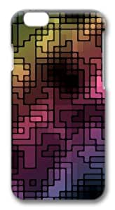 Abstract multicolor Custom iphone 6 plus Case Cover Polycarbonate 3D