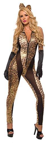 Sex Kitten Bodysuit Queen Of The Jungle Catsuit Costume